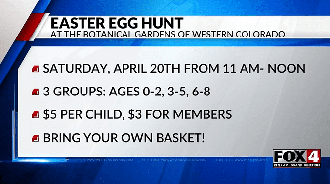 April 20 Easter egg hunt