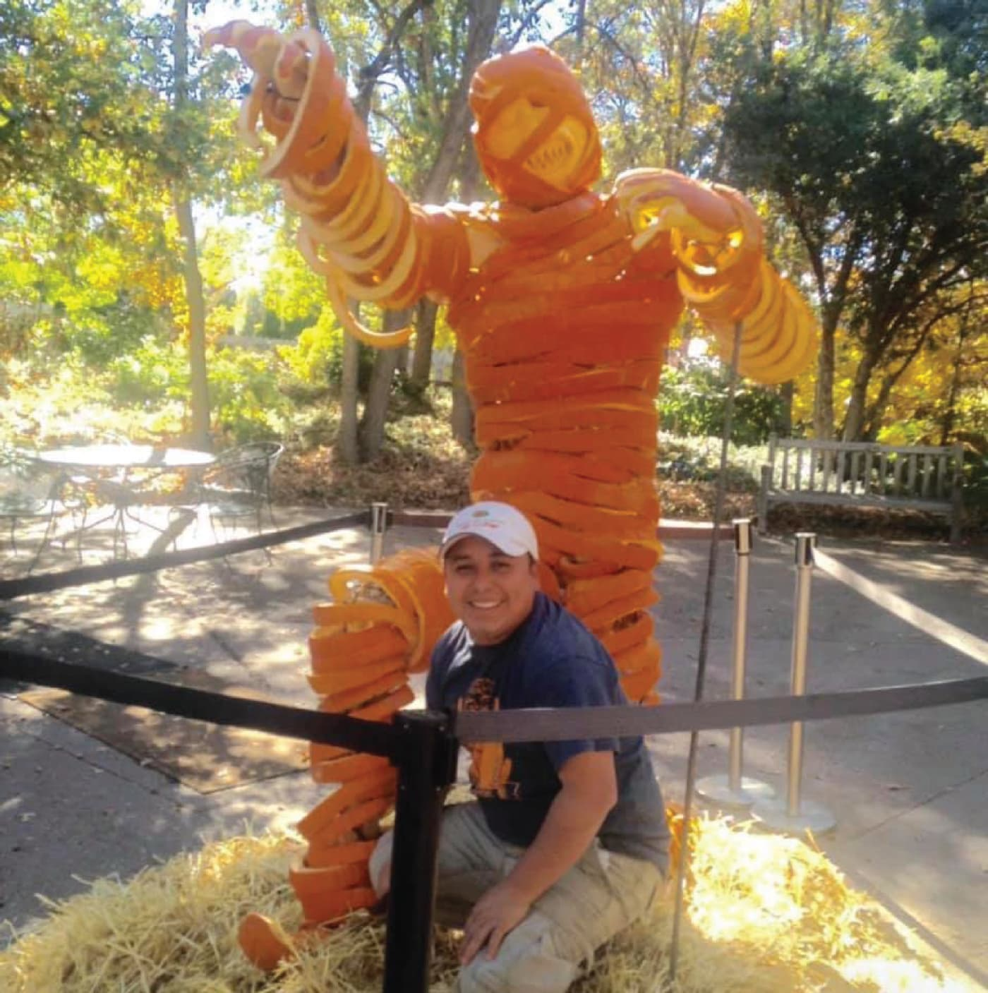 Pumpkin Sculpture with Willy Tuz in Grand Junction