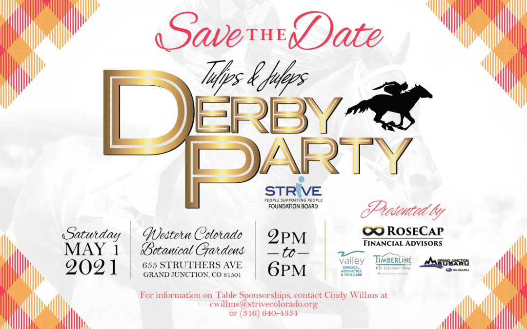 Save the Date – 7th annual Tulips & Juleps Derby Party on May 1st.