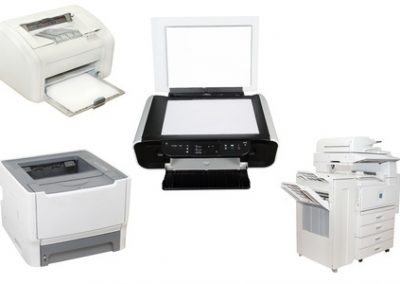 image of printers under the white background