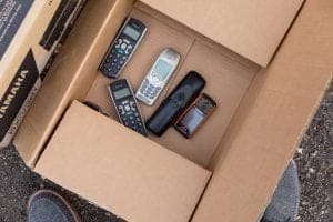 Refurbished electronics in Grand Junction Box of smart phones