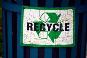 Refurbished electronics in Grand Junction Recycling Bin